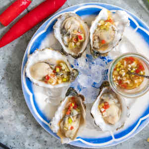 Dutch oyster with Oriental vinaigrette