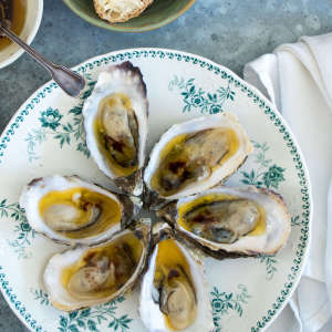 Oysters with beurre noisette